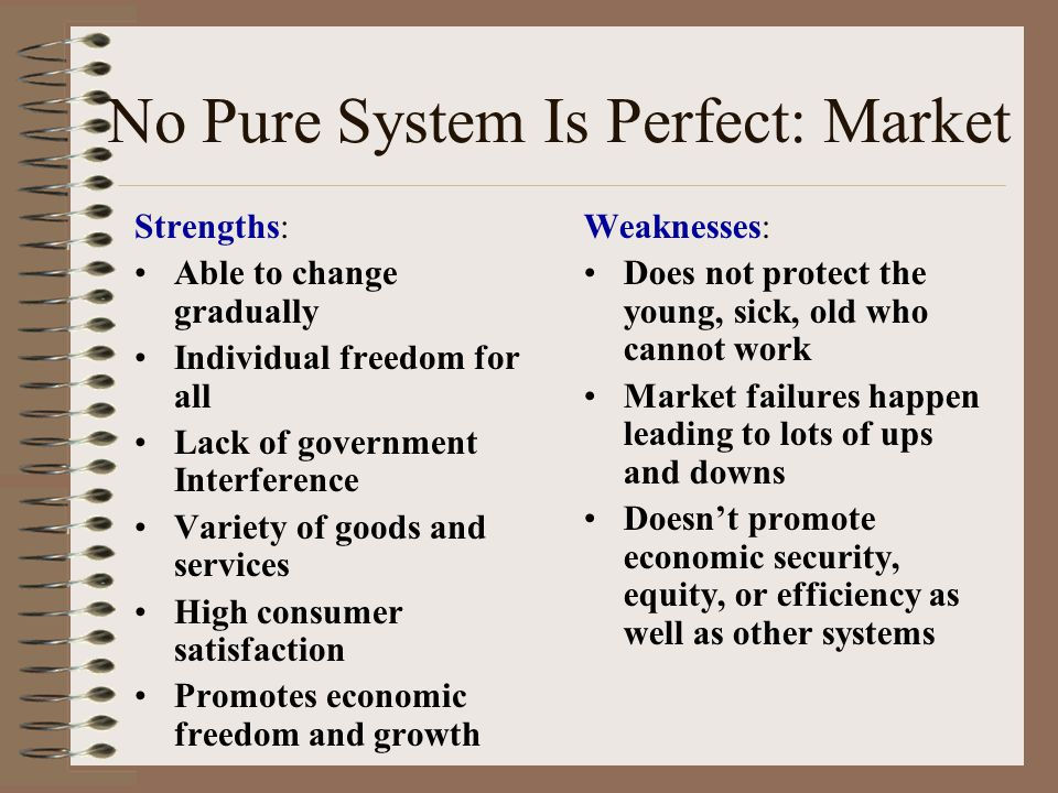 strengths and weaknesses of the command economic system The main strength of a command system is that it can change direction drastically  in a  a third weakness is that the command economy requires a large.