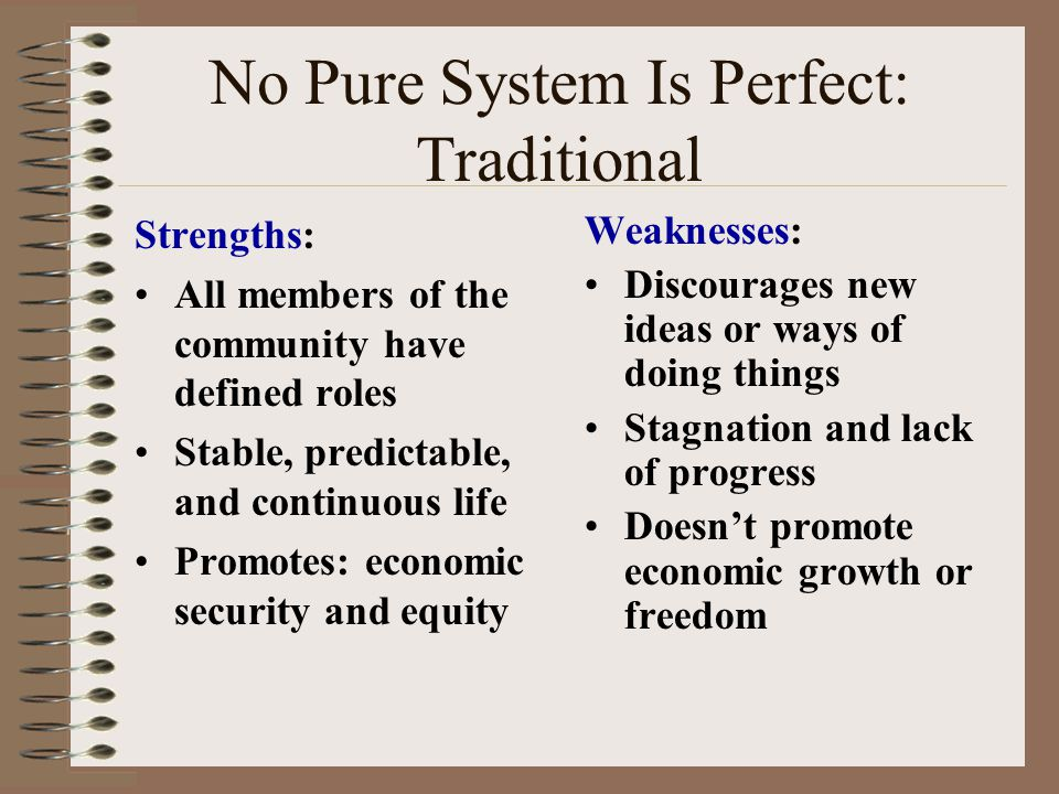 strengths and weaknesses of the command economic system The primary strengths and weaknesses of the us economy  our system of free government and free markets can only work if we have highly educated citizens and.