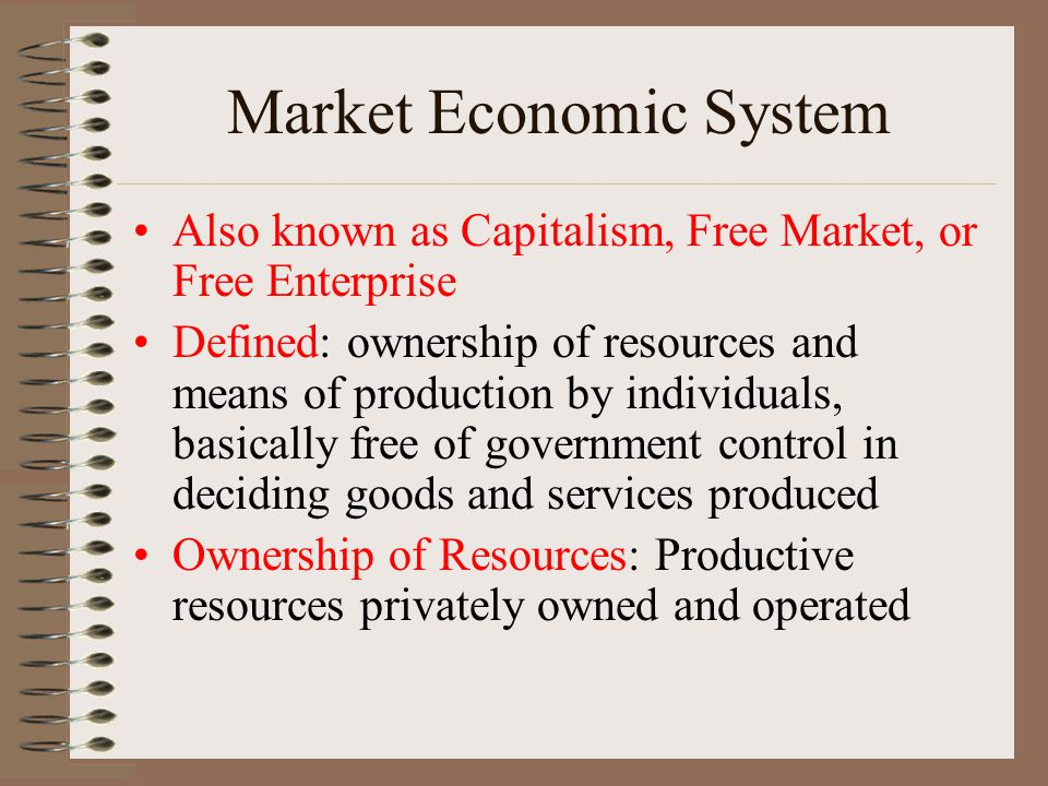 the free market system of resource allocation Earn free access under a pure price system, the decision of resource allocation d prices were set too low in all markets 4 the competitive market system.