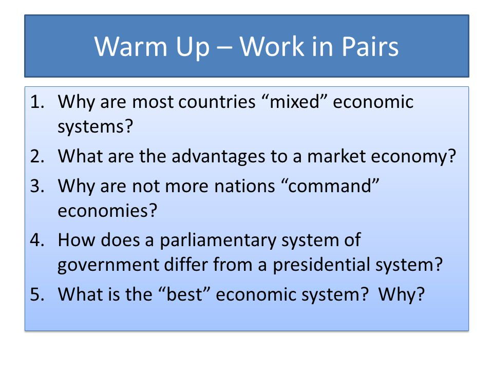advantages of presidential system