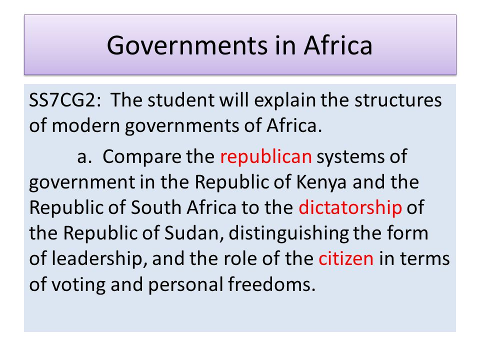 Africa – Economics and Government - ppt video online download