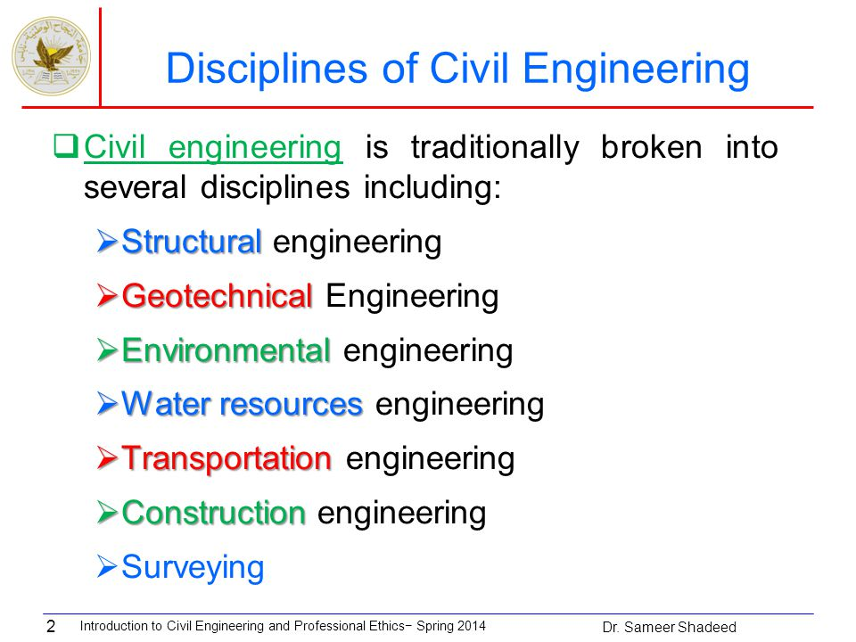 an introduction to the career of civil engineering Introduction to civil engineering design is meant for students who are new to civil engineering and want to learn theory, civil engineering case studies and techniques students will access a.