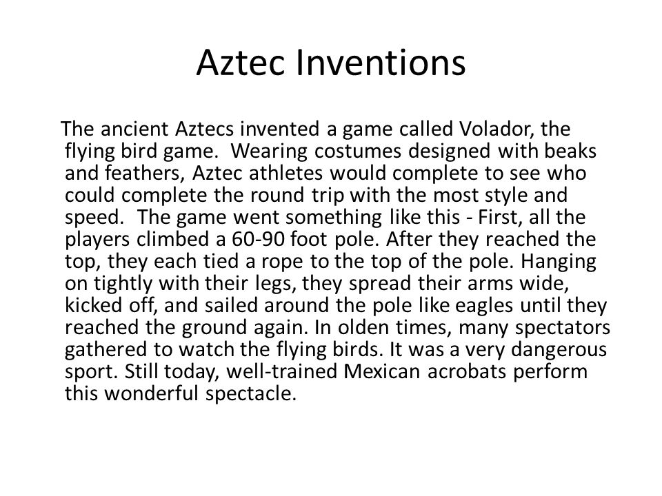 Aztec Achievements And Inventions | www.pixshark.com ...