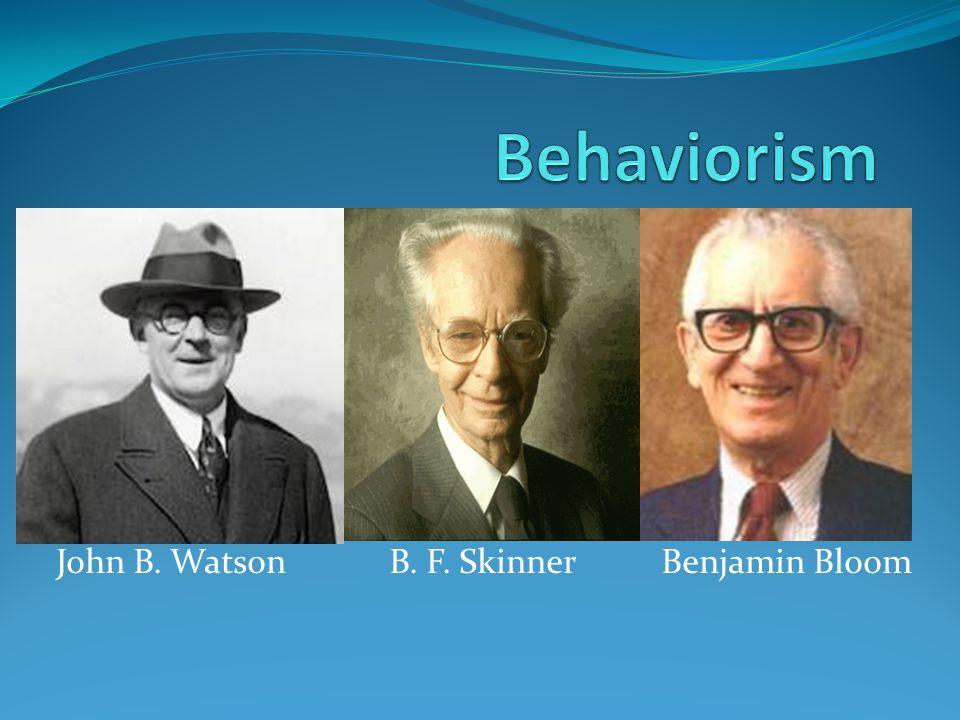 john watson and b f skinner essay Ivan pavlov, john b watson, and bf skinner are three of the men that contributed in pavlov, watson, and skinner essay 733 words | 3 pages behavior.