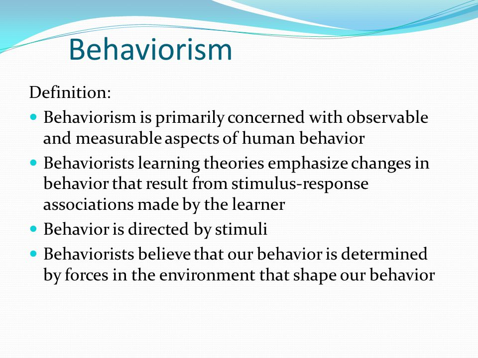 behavior theories Behavioral theory dana goldstein august 14, 2009 can mayor bloomberg pay  people to do the right thing.