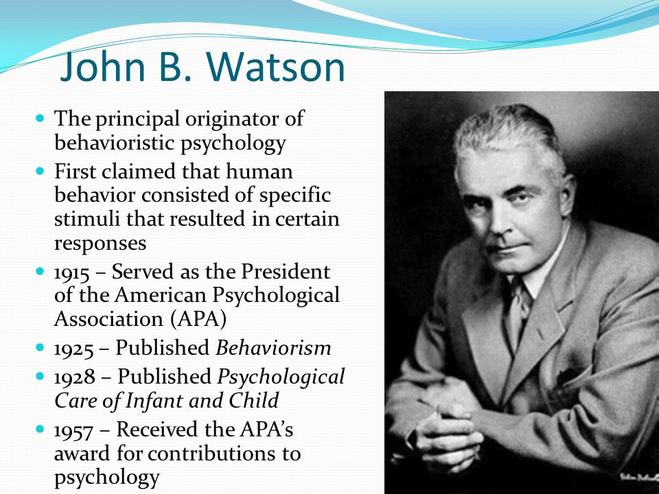 what is john b watson known for