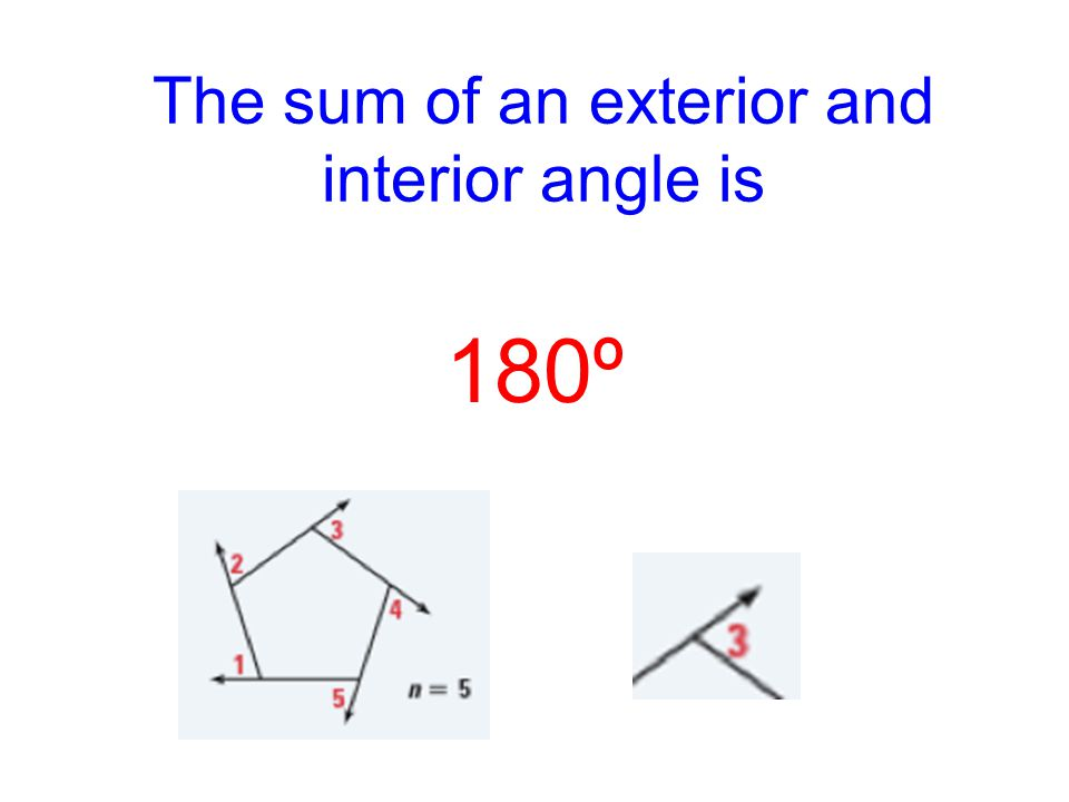 Lesson 3 5 Aim The Polygon Exterior Angle Sum Theorem