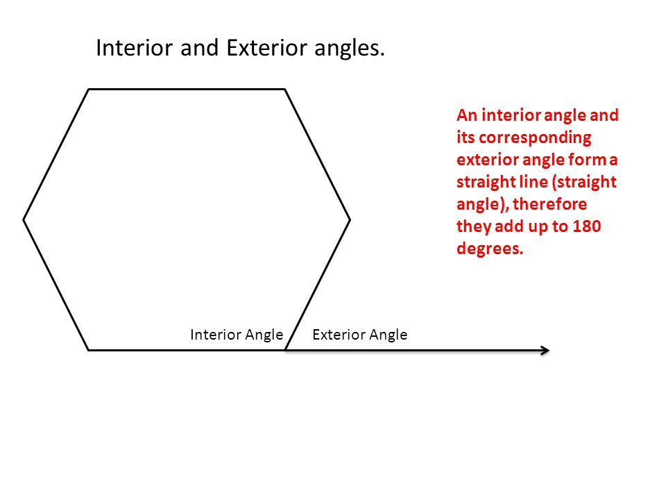Polygons quadrilaterals ppt video online download What do exterior angles of a triangle add up to