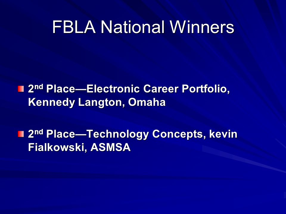 FBLA National Winners 2nd Place—Electronic Career Portfolio, Kennedy Langton, Omaha.