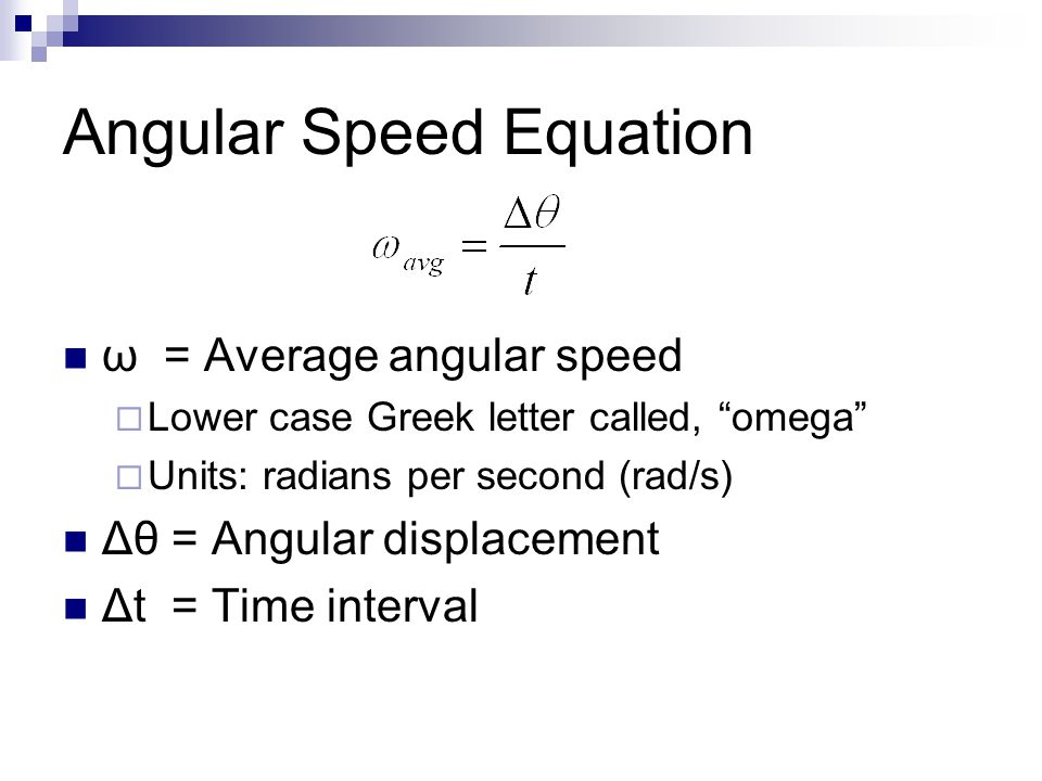 How To Change Rpm To Rad S >> Measuring Rotational Motion - ppt download