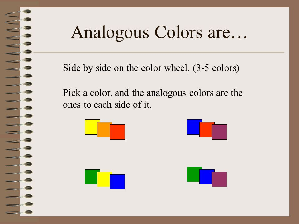 Analogous Colors Are Side By On The Color Wheel 3 5