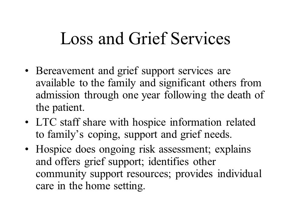 loss and grief consolidation and
