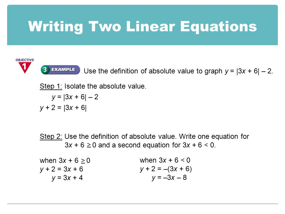 writing two step equations
