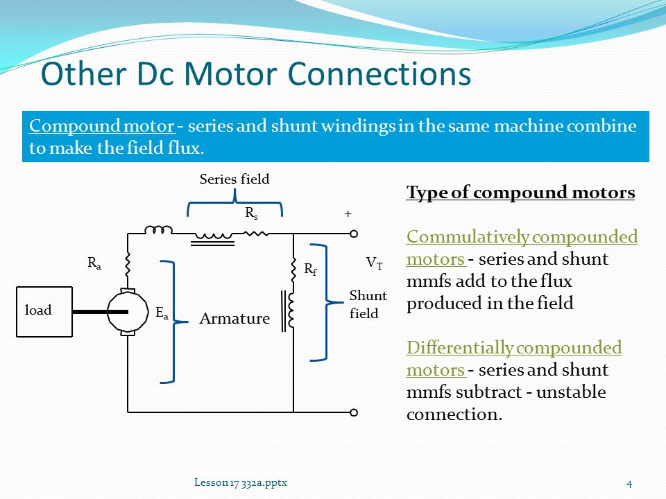 Lesson 17: Other Dc Motor Connections - ppt video online download