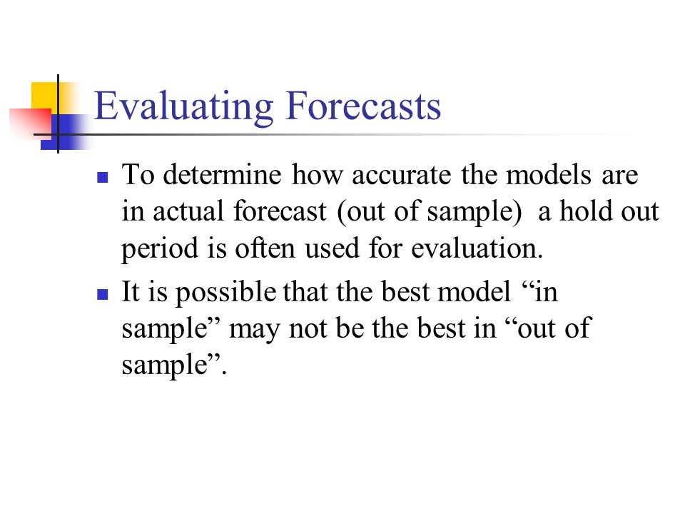 Applied Business Forecasting and Planning - ppt download