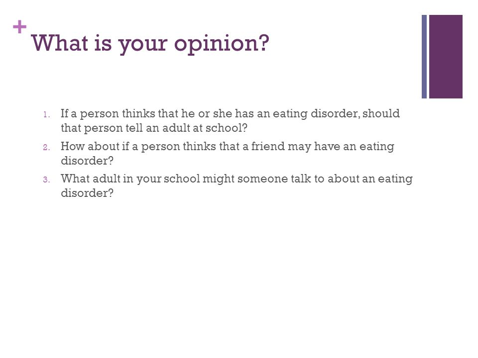 how to tell if someone is developing an eating disorder