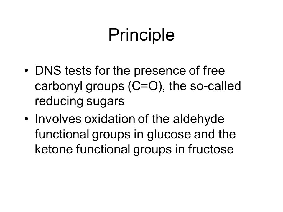 Determination of reducing sugars using dns