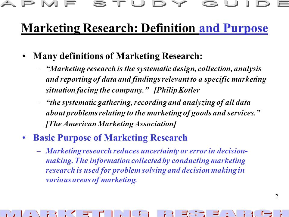 marketing research definition What is the definition of market aggregation a:  what is the definition of cooperative marketing a:  the goals of marketing research are to.