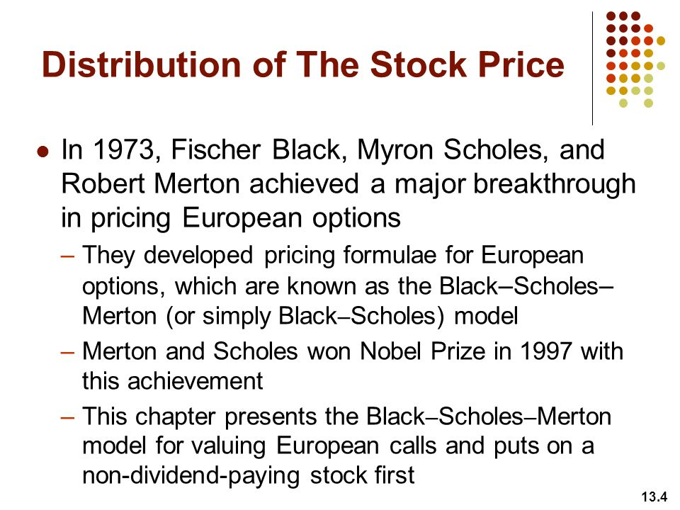Pricing stock options using black scholes