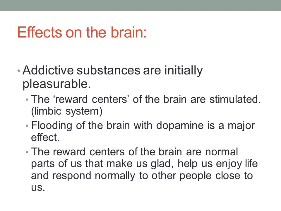the chemical dopamine the chemical that make people unable to quit addiction Effects of excessive dopamine and serotonin (the two chemicals released in the largest quantity during an orgasm)  once people quit,.