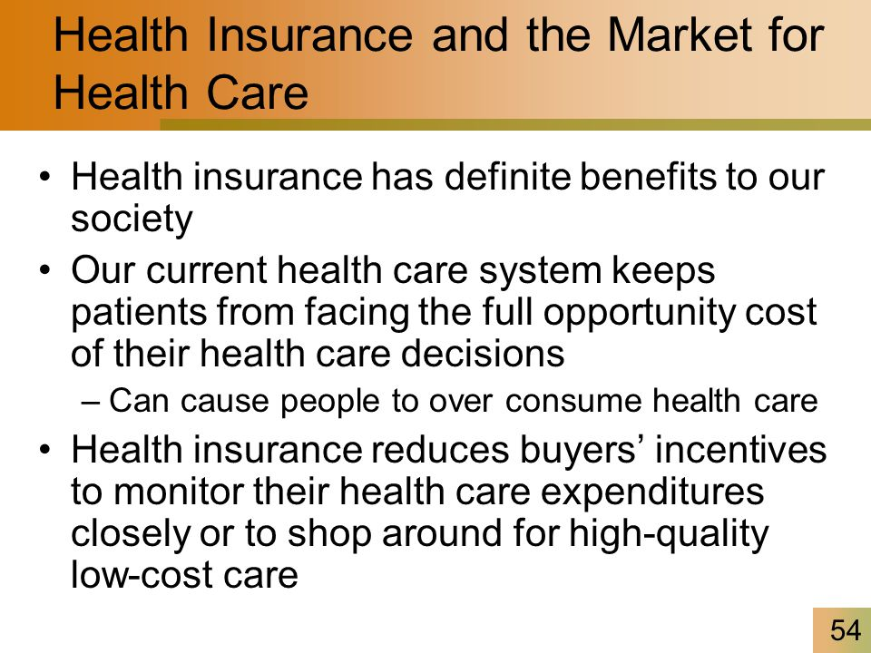 health care and incentives Each of these will contain an incentive for certain types of behaviour for  example, a fee per item will contain an incentive for patients to demand less  health care.
