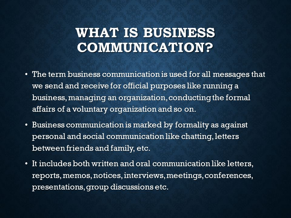 Importance of communication in business world
