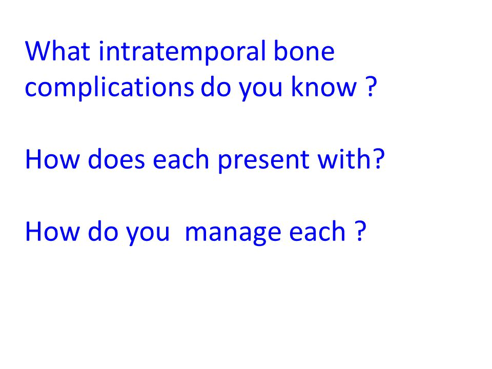 What intratemporal bone complications do you know