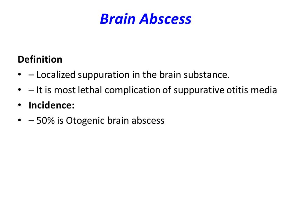 Brain Abscess Definition