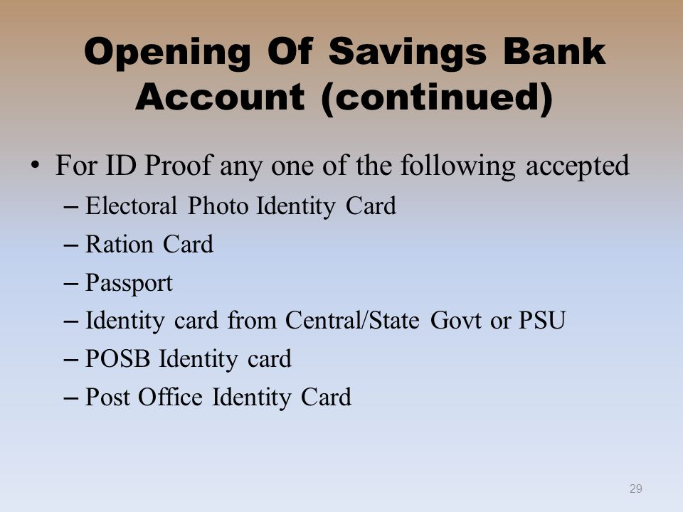 Welcome to savings bank in po ppt video online download - Open post office savings account ...