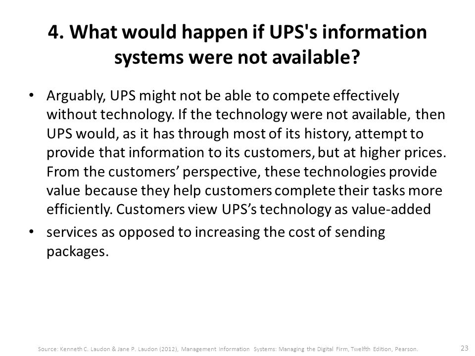 what would happen if ups s information systems were not available Upss have specifications that define the amount of overload that can be  supported and the time delay before transfer to bypass (or shutdown if bypass is  not available)  if a longer overload time limit is needed for adequate protection,  a system  for more information on eaton's ups and power quality products,  please.