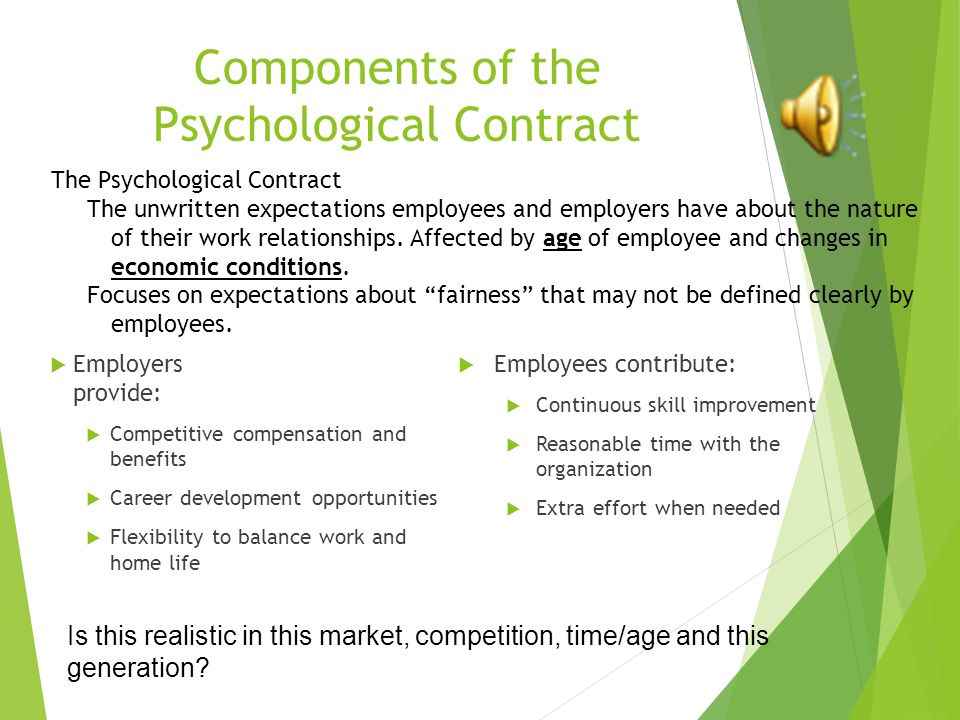 effects of psychological contract on the work life balance The psychological contract by denise  security, interest and work-life balance in exchange for  psychological contract is an abstract contract that affects .