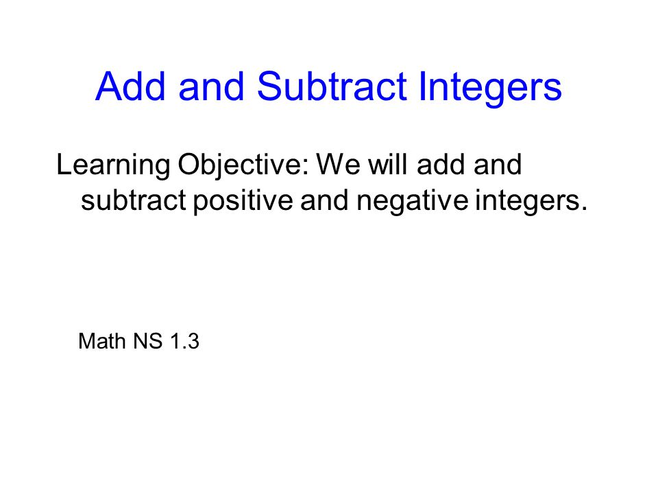 math how to add integers