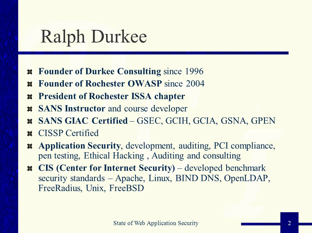 State of web application security ppt video online download 2 ralph xflitez Image collections