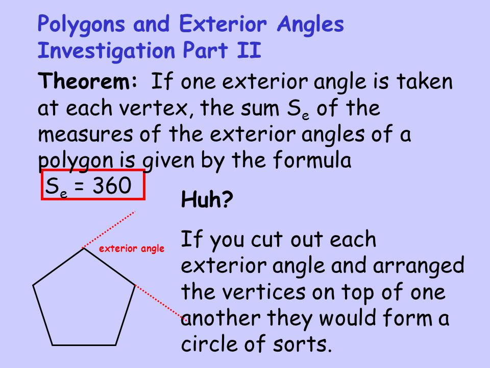 Exterior Angles Of A Polygon Formula exterior angles of polygon
