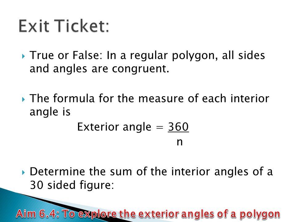 Regular polygon interior angle formula pictures to pin on - Exterior angle of a regular polygon ...