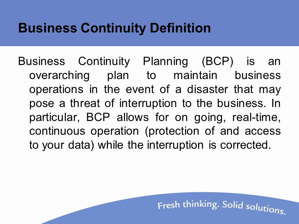 Disaster Recovery  Business Continuity Planning  Ppt Video Online