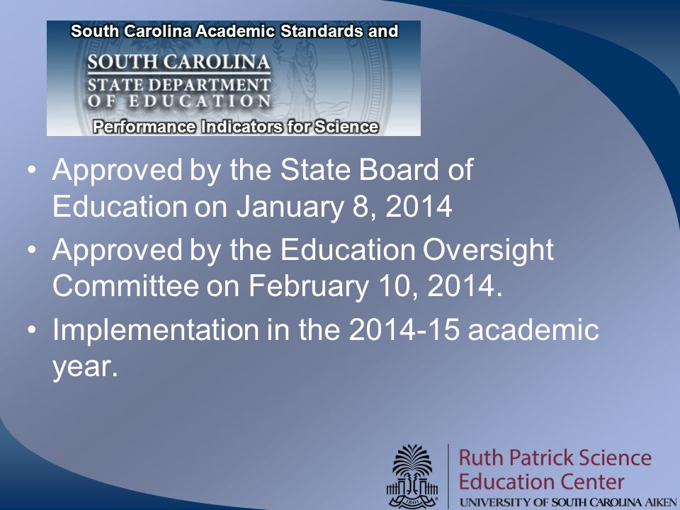 Approved by the State Board of Education on January 8, 2014