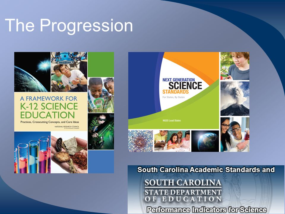 The Progression South Carolina Academic Standards and