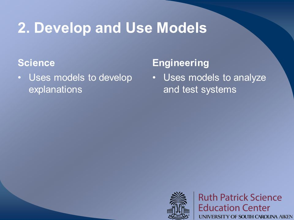 2. Develop and Use Models Science Engineering
