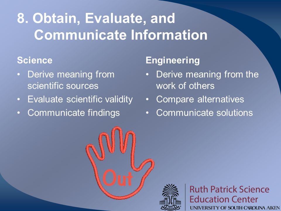 8. Obtain, Evaluate, and Communicate Information