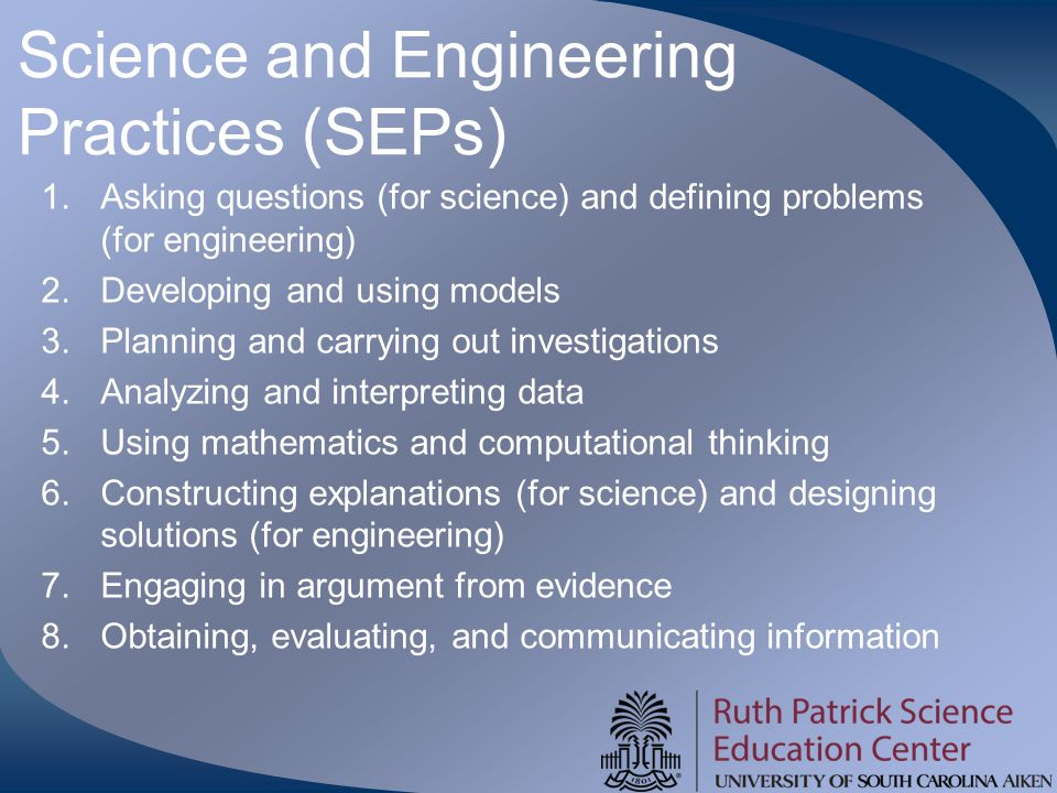 Science and Engineering Practices (SEPs)