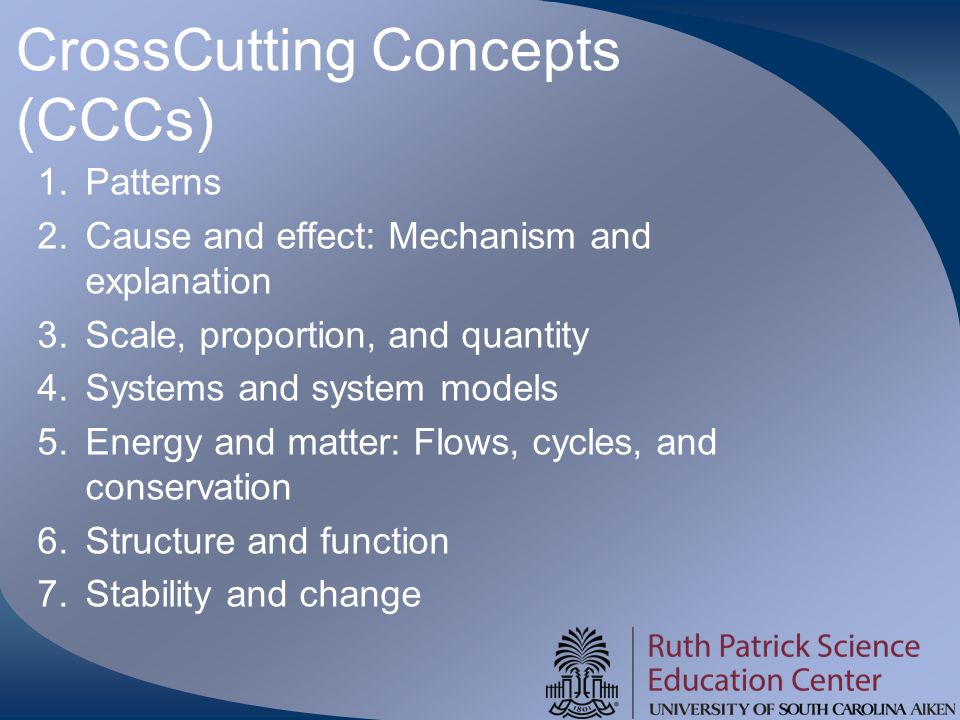 CrossCutting Concepts (CCCs)