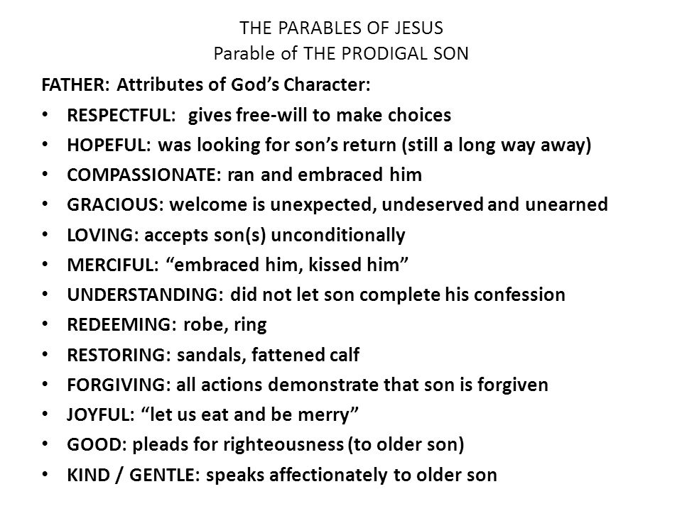 are parables effective way to spread Jesus' ministry and teaching a closer look at his parables, aphorisms, and apocalyptic message about the coming kingdom of god  and the parable is a way, really, of getting them to think.
