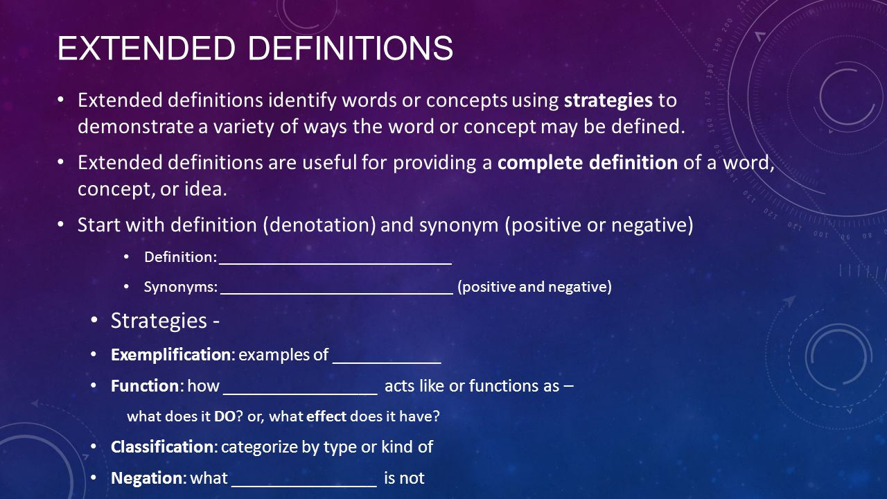 extended definition essay or dissertation words