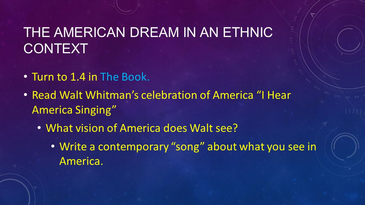 hear america singing walt whitman essays Find essay examples the two works being discussed are i hear america singing by walt whitman and i compare and contrast i hear america singing and i.