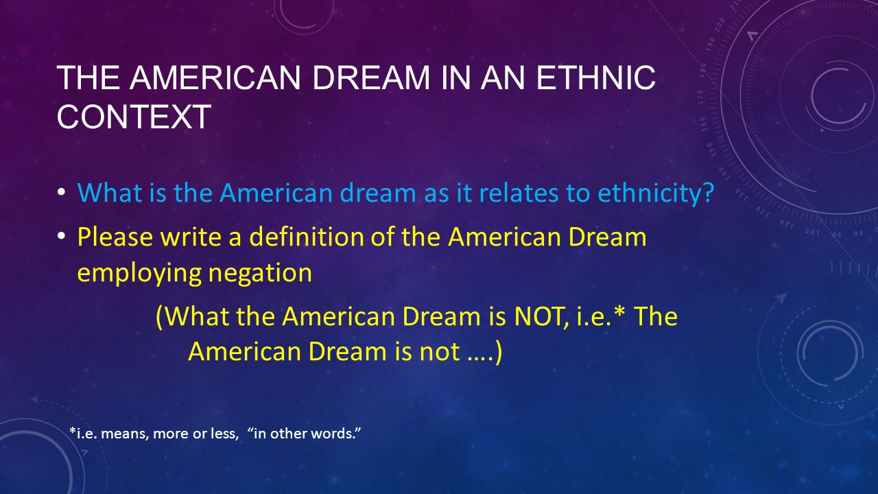 understanding the real meaning of the american dream But the concept of the american dream, as adams defined it, actually existed long  before him in 1630, john winthrop gave his city upon a hill sermon to his.