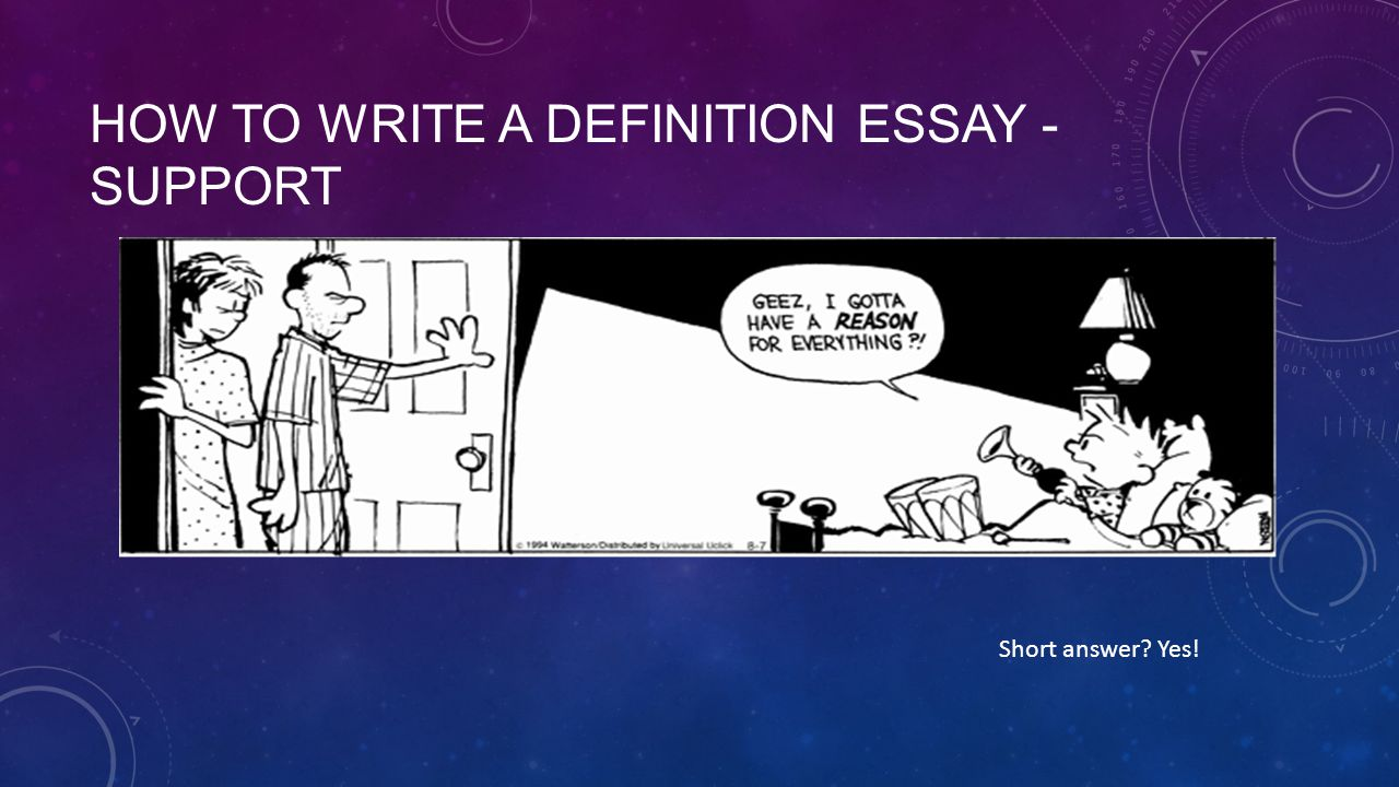definition of a essay Writer:_____ extended definition essay in your next writing assignment, you will be able to choose an abstract concept to define in detail.