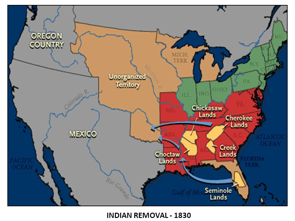 indian removal act 1830 Proponents of indian removal, passing the indian removal act in 1830 by 1838,  the remaining cherokee were removed from their land and.