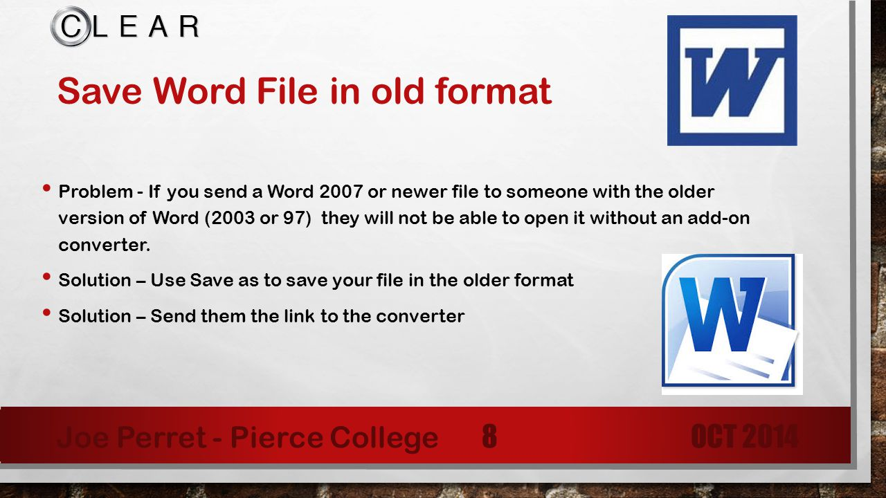 Save Word File In Old Format How To Delete A Header