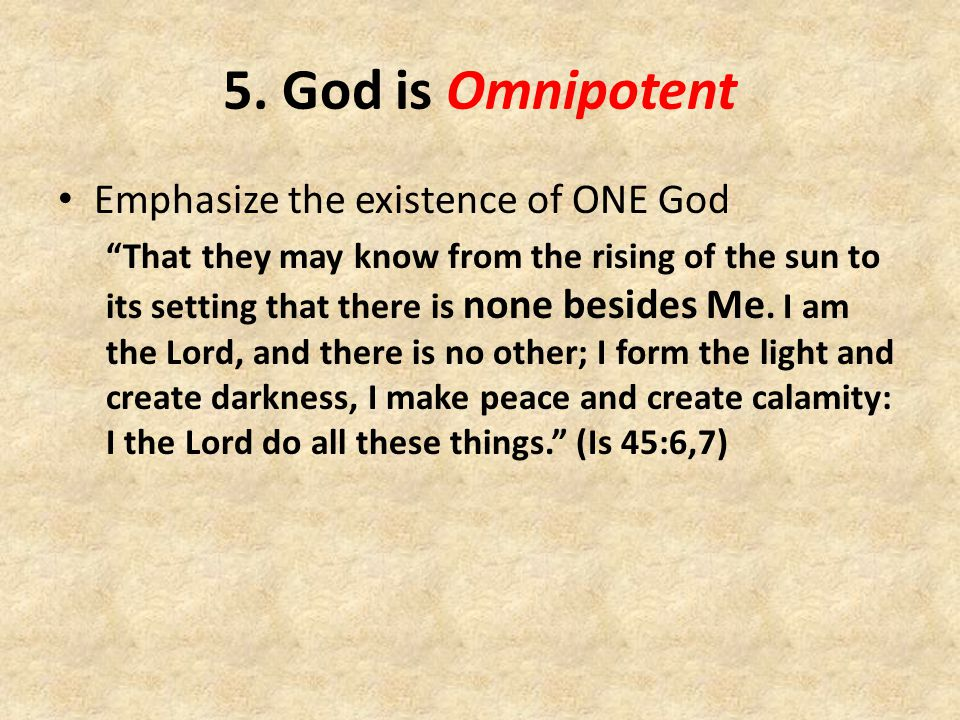 The attributes of GOD. - ppt video online download